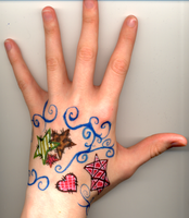 My wicked awesome hand by modestfox