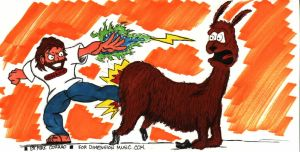 Justin Frankel Whips the Llama by spyed