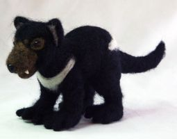 Needle Felted Tasmanian Devil by The-GoblinQueen