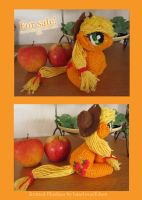 Knitted Applejack Plushie by haselwoelfchen