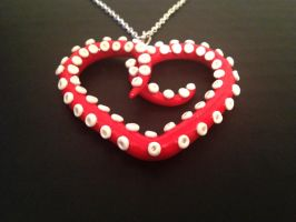 Valentine's Day Heart Tentacle Necklace by octapuu