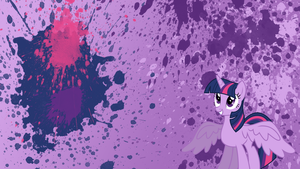 Princess Twilight Sparkle Splatter Wallpaper by brightrai