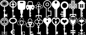 20 Keys Vectors by HundredMelanie