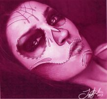 Niky Macabre as a Day of the Dead Girl. by Spanglerart