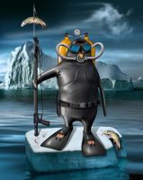 Scuba Penguin by funkwood
