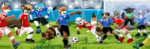 Danmark vs USA Furry Football League by TadCougar