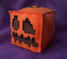 Minecraft Pumpkin Plush by alicetwasbrillig