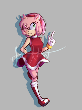 Amy Rose by FaintSaint