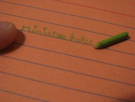 Writing in Miniature: a lost art by MiniatureBaker