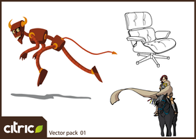 Vector pack 01 by k4n3d4r