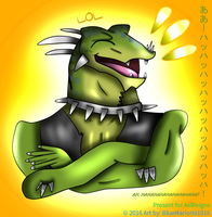 Laughter from the Lizard Prankster by BlueMario1016