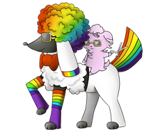 Afrobow the Furfrou by LillyRaindrop