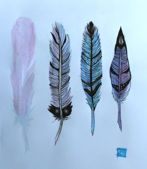 Feathers by CeladonHeart