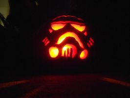 My son's Stormtrooper Pumpkin by AG88
