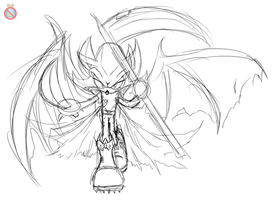 Demon Shadow doodle by shadowhatesomochao
