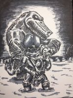 Don and Leatherhead by Derrico13