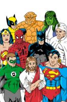 Jesus League color by cachacity