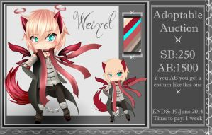 CLOSED. Adoptable Auction [ Weinrot ] by Mellmeow