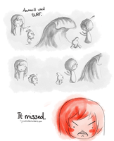It missed. by Synczoid
