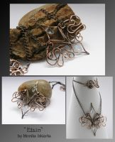 Etain- wire wrapped pendant by mea00