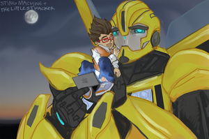 Transformers Prime: Bumblebee + Raf by massive-destruction