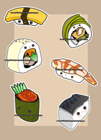 Commission - Sushi Collection by Butterscones
