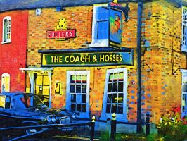 Coach and Horses Wallingford by MarmaladePrints