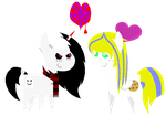 :Gift: Bouncy Scarydude and Cookie Dough Chibis by Cookie-Dough-Batter