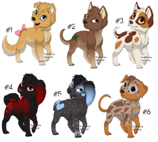 Dog and Wolf Adoptables- CLOSED by urging