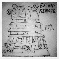 Napkin Art 143 - Exterminate! - Dalek - Dr. Who by PeterParkerPA