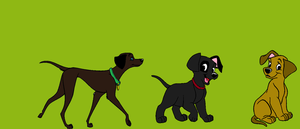 Mother And Kids Labrador Adoption by Ember-Flame007