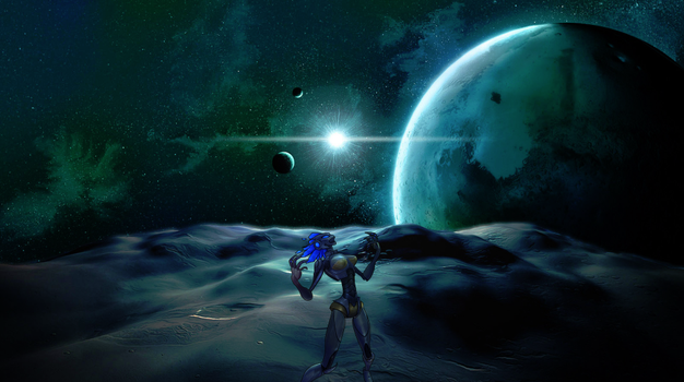 Mechari on the Moon by MoonThorne239