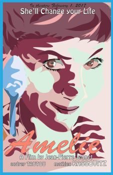 Amelie Movie Poster- 2d digtial image project by NEXProjectART