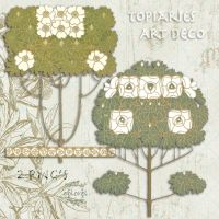 Art deco topiaries png's by libidules