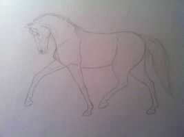 Trooting horse - WIP by Funny-horsey