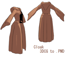 MMD- Cloak -DL by MMDFakewings18