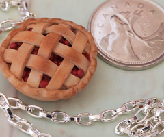 Cherry Pie Necklace by DeliciousTrickery
