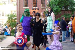 Avengers Flapper group by Kamikazemiko