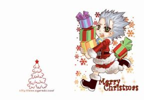 Hitsugaya Christmas card by siguredo