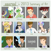 2013 sUMMARY OF aRT by SacredLugia