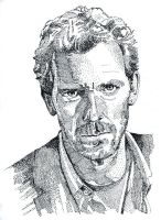 Portrait of Hugh Laurie by FractalBee