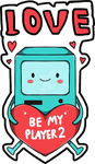 BMO inlove Adventure time Sticker by AS-Adoptables