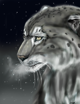 The Snow Leopard by Marshpawwolf