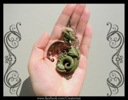Elsior The Polymer Clay Dragon by natamon