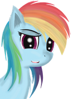 Una poni colorido by jazzy-rose-hxc
