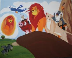 The Lion King (20th Anniversary Painting) by ZoraCatone