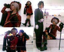 Ciel, Sebastian and Me XD by hayashinomura
