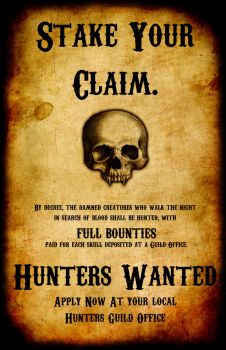 Hunters Wanted by TormentedArtifacts