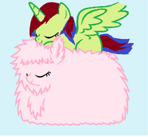 Just Sleeping On Fluffle Puff by fluttershy-element