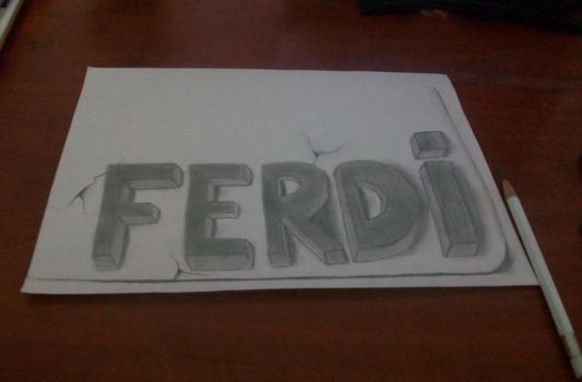 3D Art Drawing - Ferdi by vexilloid